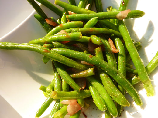 how to cook green beans in boiling water