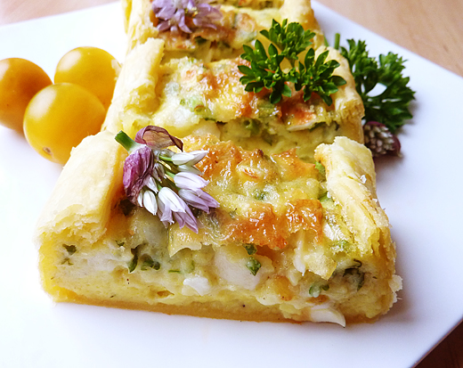 Goat's Cheese and Herb Tart