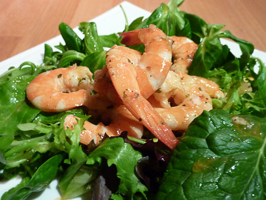 Roasted Prawns with Tomato and Basil Vinegar
